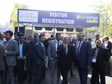 Visitors at air cargo India